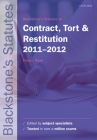 Blackstone's Statutes on Contract, Tort and Restitution Cover Image