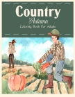 Country Autumn Coloring Book Cover Image