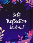 Self Reflection Tools: Beautiful 12-Month Positive Thoughts Notebook with Mood Tracker, Self Care Checklist, Inspirational Quotes, Self Refle Cover Image