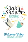 Welcome Baby Guest Book Baby Shower: Keepsake, Advice for Expectant Parents and BONUS Gift Log - Yellow Clouds Design Cover Cover Image