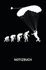 Notizbuch: Fallschirmspringer - Evolution of Skydiver - 120 Punktraster Seiten im A5 Format Cover Image