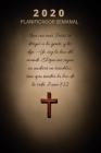 Planificador Y Organizador Semanal 2020 Con Citas Inspiradoras De La Biblia: Agenda Del Calendario Con Versículos Bíblicos Para Cristianos / Seguidor Cover Image
