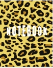 Notebook: College Ruled Notebook - Leopard Print Large (8.5 x 11 inches) - 140 Pages Cover Image