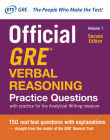 Official GRE Verbal Reasoning Practice Questions, Second Edition, Volume 1 Cover Image