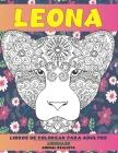 Libros de colorear para adultos - Animal realista - Animales - Leona Cover Image