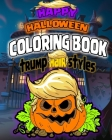 Happy halloween coloring book trump hair styles: 20 coloring pages for kids and adult Cover Image