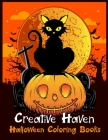 Creative Haven Halloween Coloring Books: Halloween Designs Including Witches, Ghosts, Pumpkins, Vampires, Haunted Houses, Zombies, Skulls, and More!Ac Cover Image