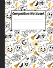 Composition Notebook: White Halloween Themes Style, 8.5
