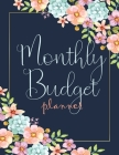 Monthly Budget Planner: Money Debt Tracker Financial Journal, Monthly & Weekly Daily Budget Expense Tracker Bill (Golden Watercolor Bloom) Cover Image