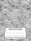 Composition Notebook: Ocean Waves Water Illustration Coloring Book Style Cover Cover Image