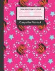 Composition Notebook: Horses and Stars Pink College Ruled Notebook for Writing Notes... for Girls, Kids, School, Students and Teachers Cover Image