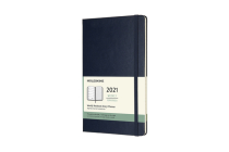Moleskine 2021 Weekly Planner, 12M, Large, Sapphire Blue, Hard Cover (5 x 8.25) Cover Image