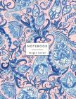 Notebook magic lover: Blue flower on pink and Dot Graph Line Sketch pages, Extra large (8.5 x 11) inches, 110 pages, White paper, Sketch, Dr Cover Image