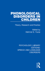 Phonological Disorders in Children: Theory, Research and Practice Cover Image