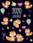 Zorro Rojo Agenda 2020: Planificador Annual - Enero a Diciembre 2020 - Ideal Para la Escuela, el Estudio y la Oficina Cover Image