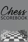 Chess Scorebook: Score Sheet and Moves Tracker Notebook, Chess Tournament Log Book, Notation Pad, White Paper, 6″ x 9″, 124 Cover Image