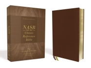 Nasb, Classic Reference Bible, Genuine Leather, Buffalo, Brown, Red Letter, 1995 Text, Art Gilded Edges, Comfort Print Cover Image