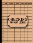 Checking Account Ledger: Large Print Checkbook Log - 110 pages, 8.5 x 11 inches, General Business Ledger Checking Account Transaction Register Cover Image