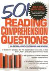 501 Reading Comprehension Questions Cover Image