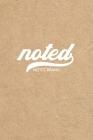 Noted Pocket Notebook: 4x6, Small Journal Blank Memo Book, White Logo Kraft Brown Cover Cover Image
