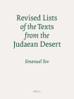 Revised Lists of the Texts from the Judaean Desert Cover Image