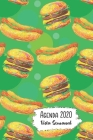 Agenda 2020 Vista Semanal: 12 Meses Programacion Semanal Calendario en Espanol Diseno Hamburguesa y Hot Dog Cover Image