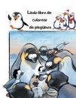 Lindo libro de colorear de pingüinos: Divertido pingüino para colorear para niños Cover Image