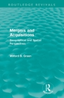 Mergers and Acquisitions (Routledge Revivals): Geographical and Spatial Persspectives Cover Image