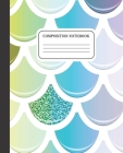 Composition Notebook: Wide Ruled Notebook - Rainbow Mermaid Print - 100 Pages - 7.5 x 9.25