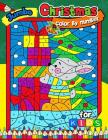 Jumbo Christmas Color by Number for kids: Merry X'Mas Coloring for Children, boy, girls, kids Ages 2-4,3-5,4-8 (Santa, Snowman and Reindeer) Cover Image