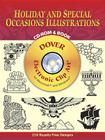 Holiday and Special Occasions Illustrations CD-ROM and Book [With CDROM] (Dover Electronic Clip Art) Cover Image