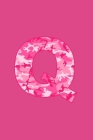 Q: Writing Journal Diary for Active Duty or Deployed Military Service Member with Pink Camouflage Camo Initial. 6