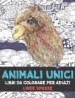 Libri da colorare per adulti - Linee spesse - Animali unici Cover Image