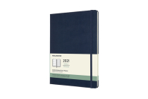 Moleskine 2021 Weekly Planner, 12M, Extra Large, Sapphire Blue, Hard Cover (7.5 x 9.75) Cover Image