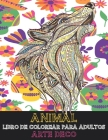 Libro de colorear para adultos - Arte deco - Animal Cover Image