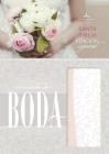 RVR 1960 Biblia Recuerdo de Boda, filigrana blanca/rosa palo símil piel Cover Image