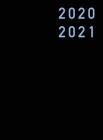 Agenda 2020 2021: 18 Mesi Agenda 2020/2021, luglio 2020 - dicembre 2021 nera, copertina rigida, settimanale verticale, italiano, Din A4 Cover Image