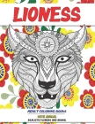 Adult Coloring Books Realistic Flowers and Animal - Cute Animal - Lioness Cover Image