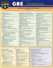 GRE Vocabulary: A Quickstudy Laminated Reference Guide Cover Image