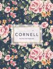 Cornell Notes Notebook: Floral Print - 120 White Pages 8.5x11