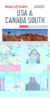 Insight Guides Travel Map USA & Canada South (Insight Maps) (Insight Travel Maps) Cover Image