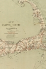 Cape Cod Vintage Map Field Journal Notebook, 100 pages/50 sheets, 4x6 Cover Image