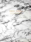 2021-2022 Academic Planner: Large Weekly and Monthly Planner with Inspirational Quotes and Marble Cover Volume 1 (Hardcover) Cover Image
