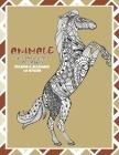 Libri da colorare per adulti - Terapia e alleviare lo stress - Animale Cover Image