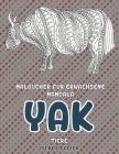 Malbücher für Erwachsene Mandala - Dickes Papier - Tiere - Yak Cover Image