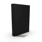 Net Bible, Thinline Large Print, Genuine Leather, Black, Comfort Print: Holy Bible Cover Image