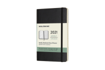 Moleskine 2021 Weekly Planner, 12M, Pocket, Black, Soft Cover (3.5 x 5.5) Cover Image