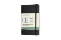 Moleskine 2021 Weekly Planner, 12M, Pocket, Black, Soft Cover (3.5 x 5.5) Cover Image