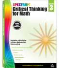 Spectrum Critical Thinking for Math, Grade 3 Cover Image