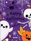 Happy Halloween coloring book: For kids Age 3-8 Cover Image